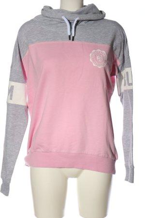BumBum Sweatshirt rose-blanc moucheté style décontracté