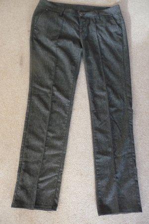 Bundfalten Hose in Tweed-Look