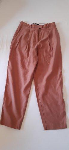 Mango Basics Spodnie z zakładkami brązowo-czerwony