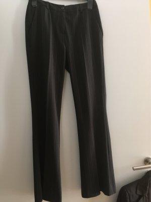 Apart Impressions Pantalone a pieghe marrone scuro-crema