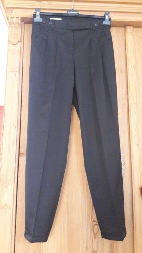 René Lezard Pantalon à pinces noir soie