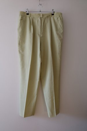 Peter Hahn Woolen Trousers natural white-lime-green