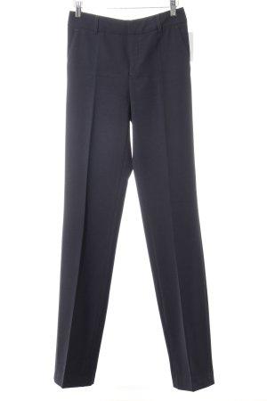 Bundfaltenhose dunkelblau Business-Look