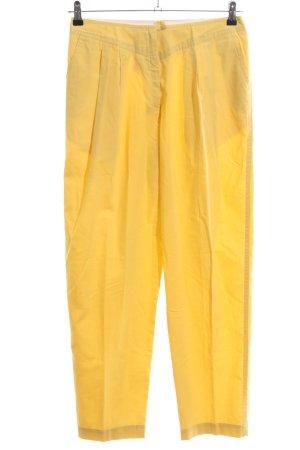 Bundfaltenhose gelb extravaganter Stil