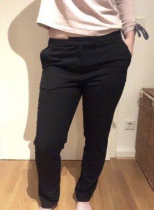 Bundfaltenhose schwarz Business Look
