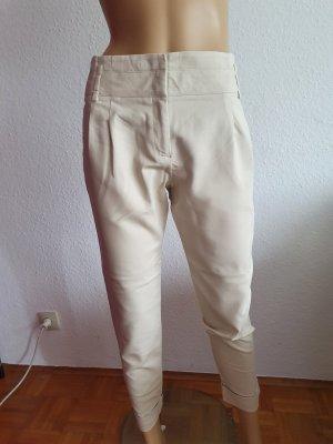 Bundfaltenhose Zara Basic, Größe 38, hellbeige
