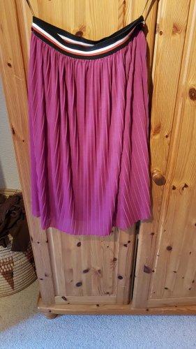 Bundfaltenrock von Pieces Pink/ Violett