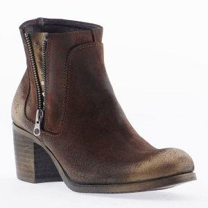 Bunker BKR Ankle Boots Pumps Stiefeln Stiefeletten Gold Ombre Leder Nieten Studded High Heels Wedges