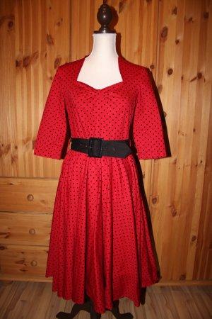 Hell Bunny Sukienka z halką czerwony
