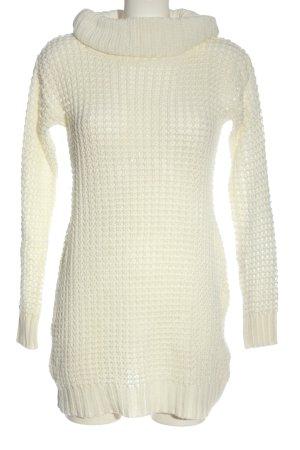bunoh.q Robe pull blanc cassé style décontracté
