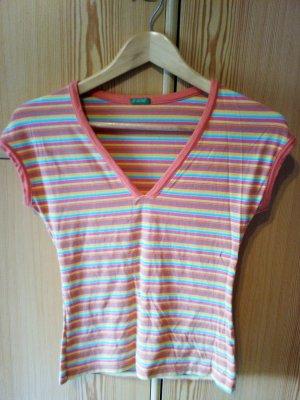 bunt gestreiftes T-Shirt - United Colours of Benetton