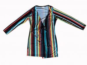 Revolution Robe portefeuille multicolore polyester