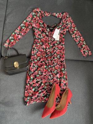 Guess Sukienka mini czerwony-czarny