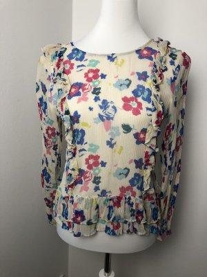 Bunte Blumen Bluse Größe M