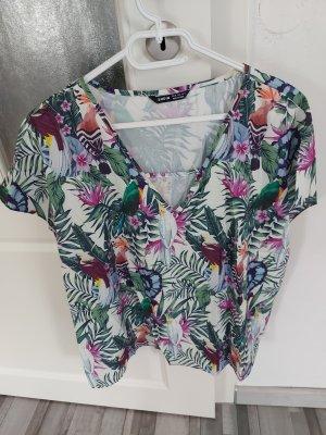 Bunte Bluse mit Blumenmuster gr.L XL