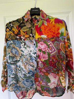 Wallis Blusa trasparente multicolore
