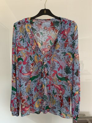 Jadicted Blouse à volants multicolore viscose