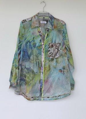 Otto Kern Camicetta a maniche lunghe multicolore Tessuto misto