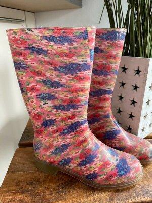 Gumowe buty Wielokolorowy Tkanina z mieszanych włókien