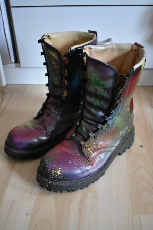 Combat Boots multicolored leather