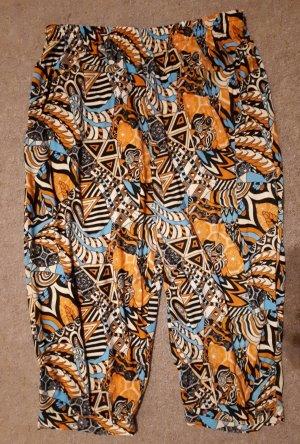 Pantalón estilo Harem multicolor Poliéster