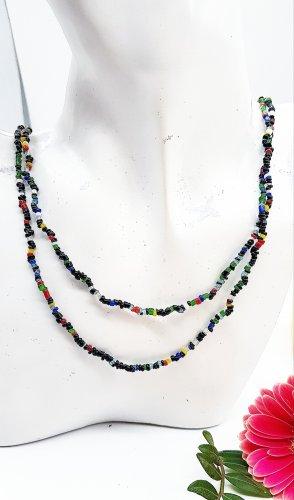 Bunte lange Sommer Perlenkette