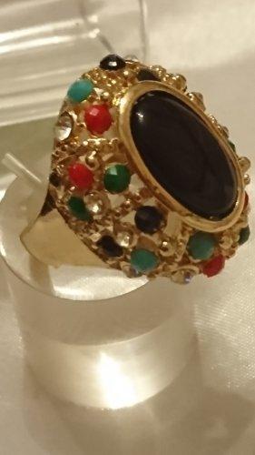 Bunte Onyx Ring Gr.18