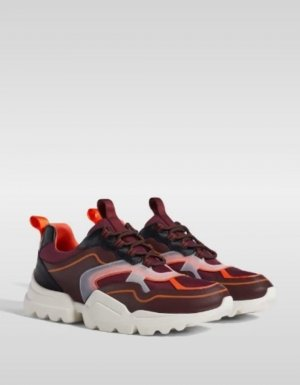 bunte Sneaker mit Plateausohle