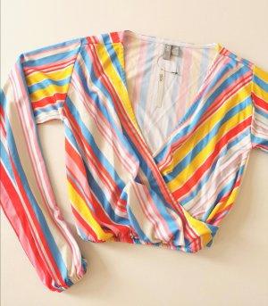 Bunte Sommer Streifen Bluse