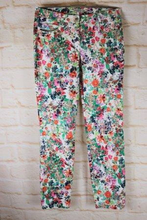 Adelina Pantalon taille haute multicolore tissu mixte
