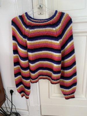 Zara Pullover all'uncinetto multicolore