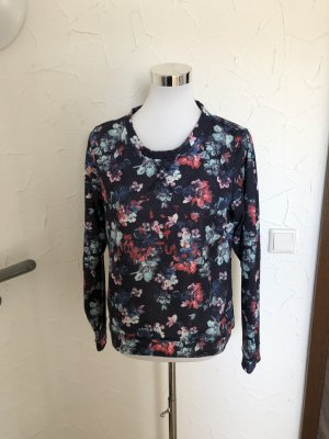 bunter Pulli / Pullover mit Blumen von Colours of the World / Takko - Gr. M