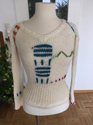 Bunter Pullover inkl. Schal