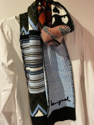 desingual Knitted Scarf multicolored