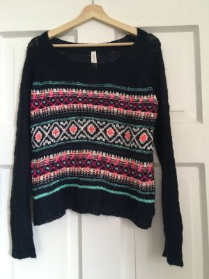 Aeropostale Knitted Sweater multicolored polyacrylic
