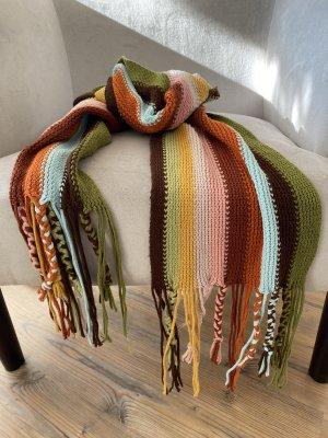 Bufanda de punto multicolor