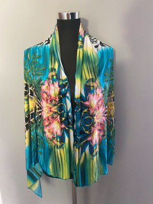 Kimono multicolore Tessuto misto