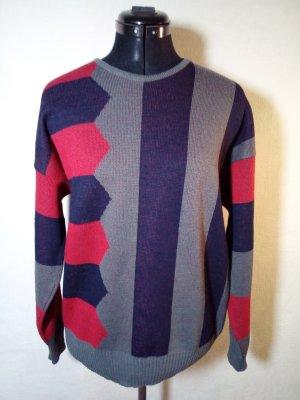 bunter Vintage Pullover von Carlo Colucci