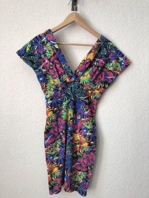 Buntes 80er Vintage-Kleid