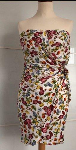 Mango Suit Robe bandeau multicolore
