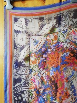 buntes Carree-Tuch in Maxi-Größe aus leicht transparentem Seidengeorgette von Ulla Popken