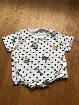 Buntes cropped T Shirt von Disney Größe S