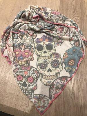 Zwillingsherz Wollen sjaal veelkleurig Katoen