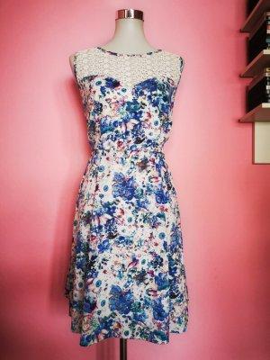 Bodyflirt Sukienka o kroju litery A Wielokolorowy Bawełna