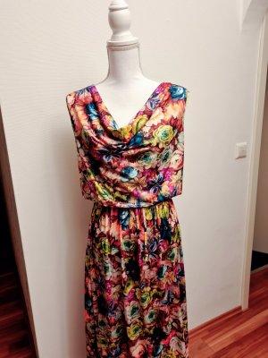 Buntes Kleid Maxikleid Sommerkleid mit Blumen