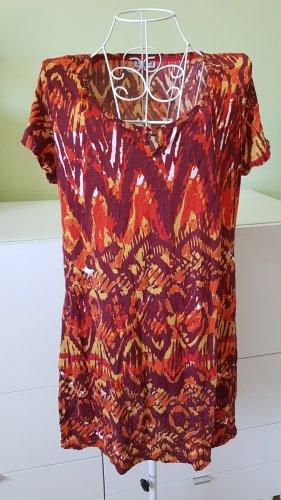 Buntes Kleid Rot/Dunkelrot/Orange Gr. 42 (eher 40)