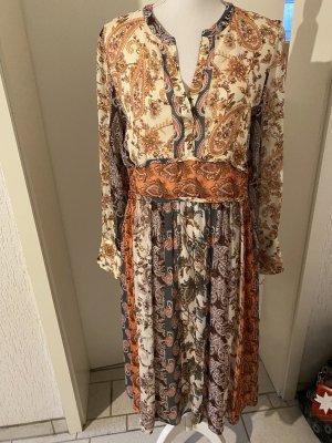 Cinque Sukienka z długim rękawem Wielokolorowy Wiskoza