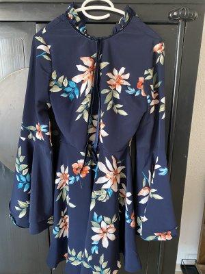 Glamorous Vestido de camuflaje azul neón