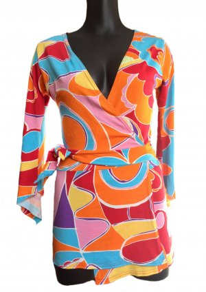 Camisa cruzada multicolor Viscosa
