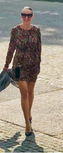 buntes Minikleid von Zara